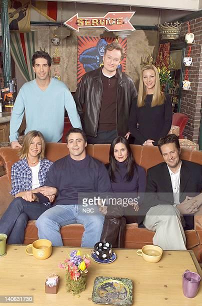 FRIENDS 'Friends The Stuff You've Never Seen' Aired Pictured Jennifer Aniston Matt LeBlanc Courteney Cox Matthew Perry David Schwimmer host Conan...
