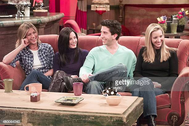 FRIENDS 'Friends The Stuff You've Never Seen' Pictured Jennifer Aniston Courteney Cox David Schwimmer Lisa Kudrow