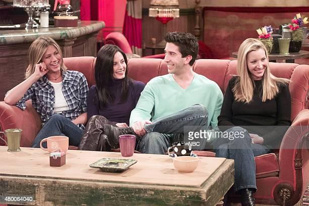 FRIENDS 'Friends The Stuff You've Never Seen' Pictured Jennifer Aniston Courteney Cox David Schwimmer Lisa Kudrow