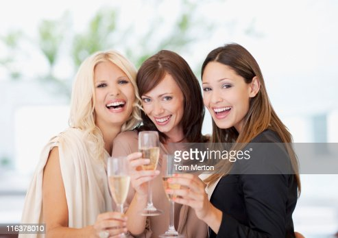 Friends toasting champagne flutes