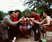 Friends toasting margaritas