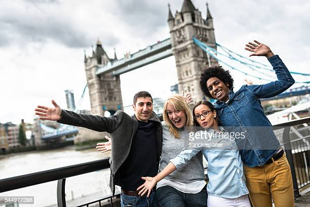 friends togetherness in london - Tower bridge