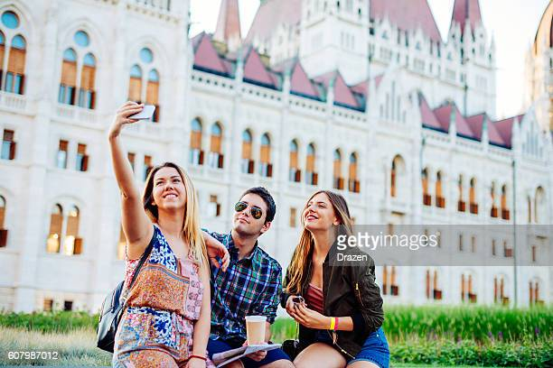 Friends travel to Budapest