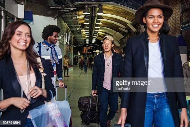 Amis en voyage à Londres