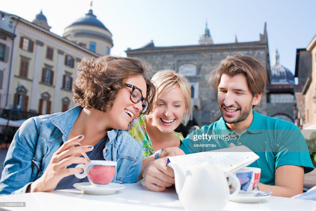 Friends visiting Italy : Stock Photo