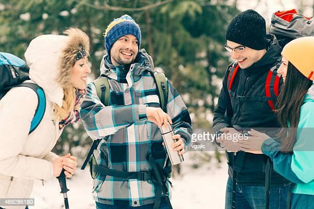 ご友人との冬のハイキング。