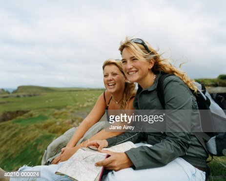 Friends with Map : Stock Photo