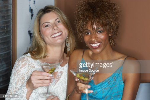 Friends with martinis : Stock Photo