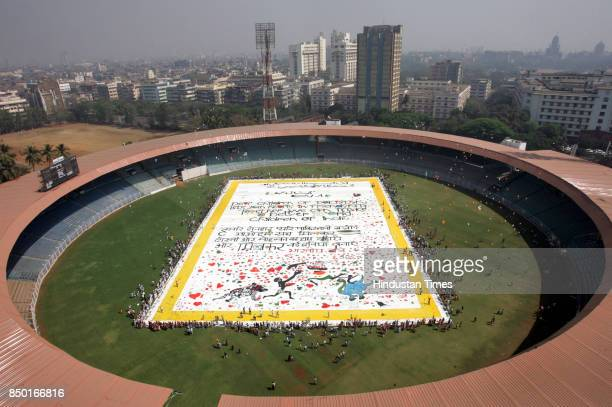 Friends Without Borders unveiled the world's largest love letter at Wankhede Stadium