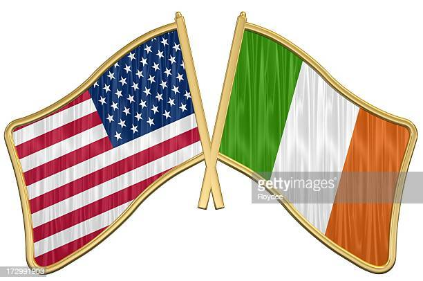 US Friendship Flag Pin - Ireland