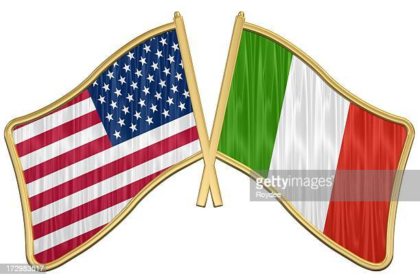 US Friendship Flag Pin - Italy
