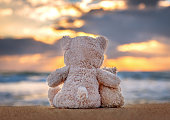 Friendship - two teddy bears holding in one's arms.