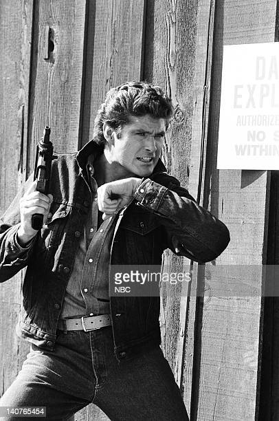 RIDER 'Fright Knight' Episode 20 Pictured David Hasselhoff as Michael Knight Photo by Jerry Wolfe/NBCU Photo Bank