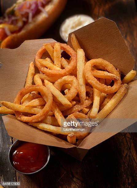 Frings - French Fries, Onion Rings and A hotdog