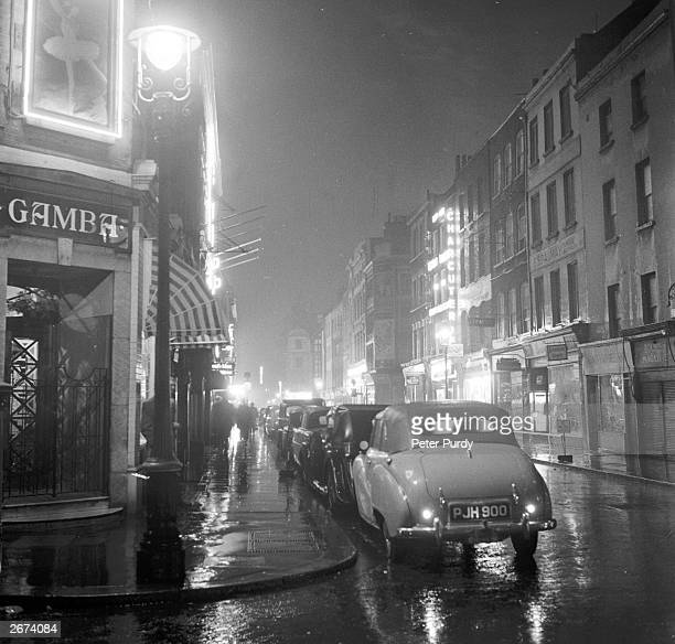 Frith Street in Soho London at a time when the capital's rival gangs are battling for control of racecourse betting