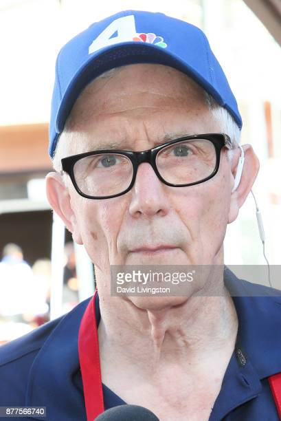 Fritz Coleman is seen at the Los Angeles Mission Thanksgiving Meal for the homeless at the Los Angeles Mission on November 22 2017 in Los Angeles...