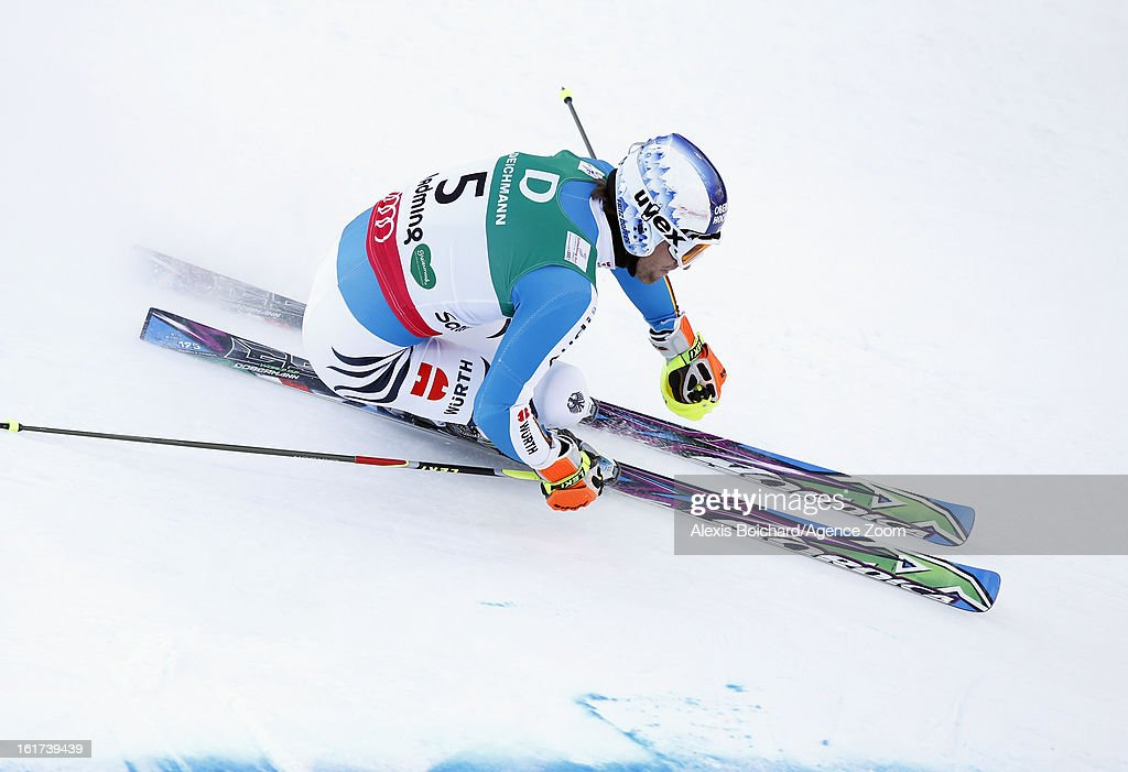 Fritz Dopfer of Germany competes during the Audi FIS Alpine Ski World Championships Men's Giant slalom on February 15, 2013 in Schladming, Austria.