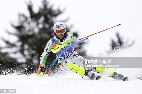 Fritz Dopfer of Germany competes during the Audi FIS Alpine Ski World Cup Men's Slalom on January 19 2014 in Wengen Switzerland
