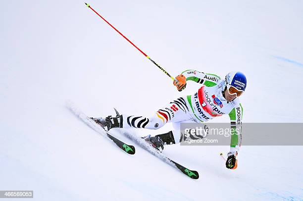 Fritz Dopfer of Germany competes during the Audi FIS Alpine Ski World Cup Men's Giant Slalom on February 02 2014 in St Moritz Switzerland