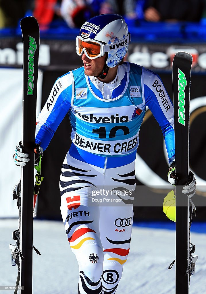 Fritz Dopfer of Germany looks on after finishing seventh in the men's Giant Slalom at the Audi FIS World Cup on December 2, 2012 in Beaver Creek, Colorado.