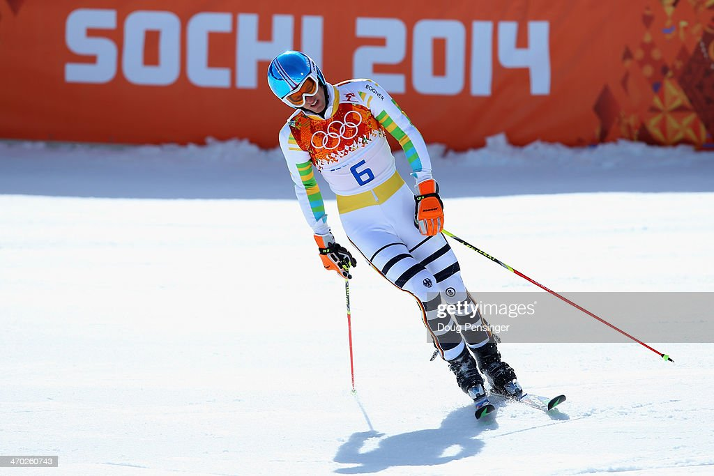 <a gi-track='captionPersonalityLinkClicked' href=/galleries/search?phrase=Fritz+Dopfer&family=editorial&specificpeople=5639346 ng-click='$event.stopPropagation()'>Fritz Dopfer</a> of Germany reacts during the Alpine Skiing Men's Giant Slalom on day 12 of the Sochi 2014 Winter Olympics at Rosa Khutor Alpine Center on February 19, 2014 in Sochi, Russia.