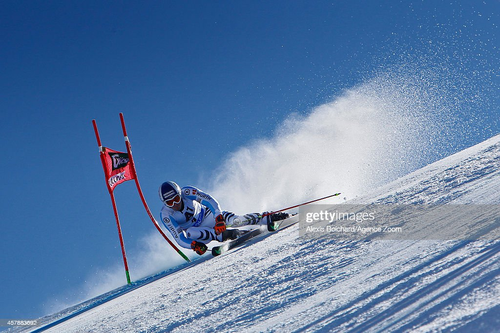 Fritz Dopfer of Germany takes 2nd place during the Audi FIS Alpine Ski World Cup Men's Giant Slalom on October 26 2014 in Soelden Austria