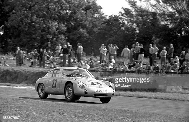 Fritz Hahnl Jr in a PorscheAbarth 356B Carrera GTL in the Tourist Trophy Goodwood England 19 Aug 1961