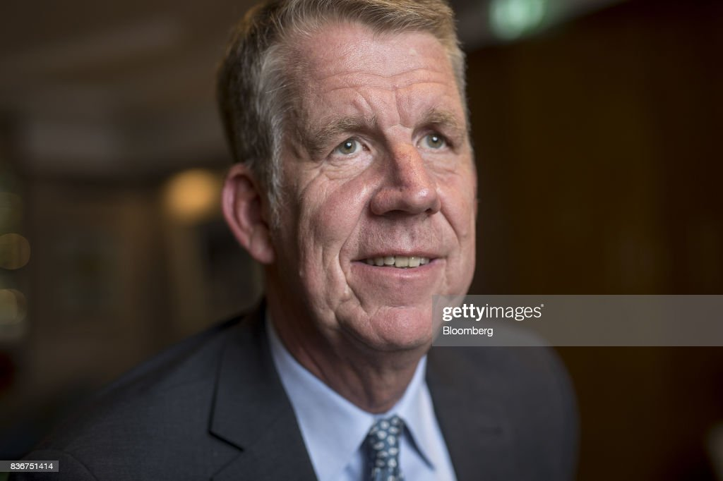 Fritz Joussen, chief executive officer of TUI AG, poses for a photograph following an interview in London, U.K., on Monday, Aug. 21, 2017. Tunisia is set to return to Europe's tourism map two years after a gunman murdered 38 mainly British holidaymakers in the resort town of Sousse, according to TUI AG, the region's biggest tour operator. Photographer: Simon Dawson/Bloomberg via Getty Images