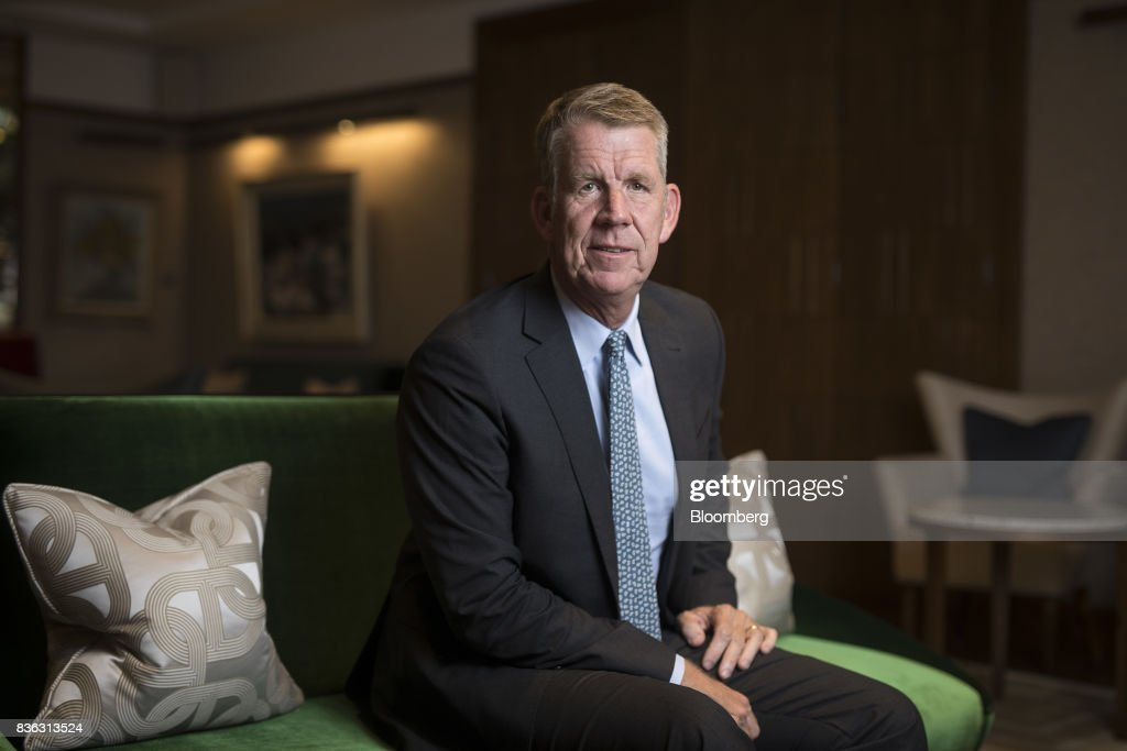 Fritz Joussen, chief executive officer of TUI AG, sits for a photograph following an interview in London, U.K., on Monday, Aug. 21, 2017. Tunisia is set to return to Europe's tourism map two years after a gunman murdered 38 mainly British holidaymakers in the resort town of Sousse, according to TUI AG, the region's biggest tour operator. Photographer: Simon Dawson/Bloomberg via Getty Images Photographer: Simon Dawson/Bloomberg via Getty Images