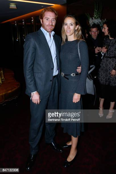 Fritz Rossi and his wife Federica attend the Reopening of the Hotel Barriere Le Fouquet's Paris decorated by Jacques Garcia at Hotel Barriere Le...