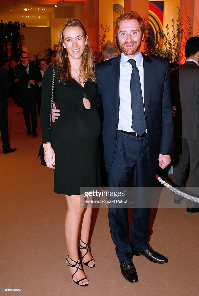 Fritz Rossi (R) and wife Alexandra van Weddingen attend the the dinner of the friends of the 'Musee d'Art Moderne de la ville de Paris' on October 22, 2013 in Paris, France.