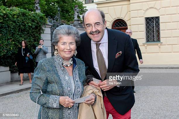 Fritz von Thurn und Taxis and guest attends the Thurn Taxis Castle Festival 2016 'Carmen' Opera Premiere on July 15 2016 in Regensburg Germany