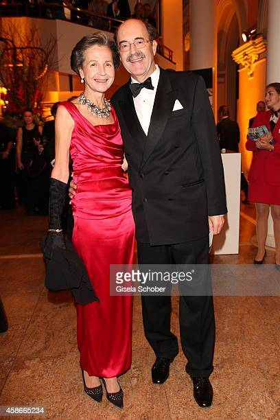 Fritz von Thurn und Taxis and his wife Bea during the 33 Deutscher Sportpresseball German Sports Media Ball 2014 at Alte Oper on November 08 2014 in...