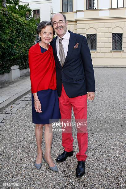 Fritz von Thurn und Taxis and his wife Beatrix von Thurn und Taxis attend the Thurn Taxis Castle Festival 2016 'Carmen' Opera Premiere on July 15...