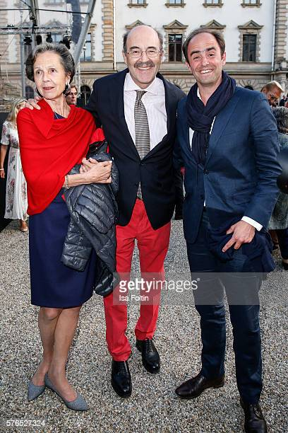 Fritz von Thurn und Taxis with his wife Beatrix von Thurn und Taxis and guest attend the Thurn Taxis Castle Festival 2016 'Carmen' Opera Premiere on...