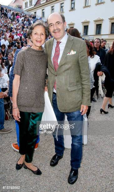 Fritz von Thurn und Taxis with his wife Beatrix von Thurn und Taxis during the Ronan Keating concert at the Thurn Taxis Castle Festival 2017 on July...