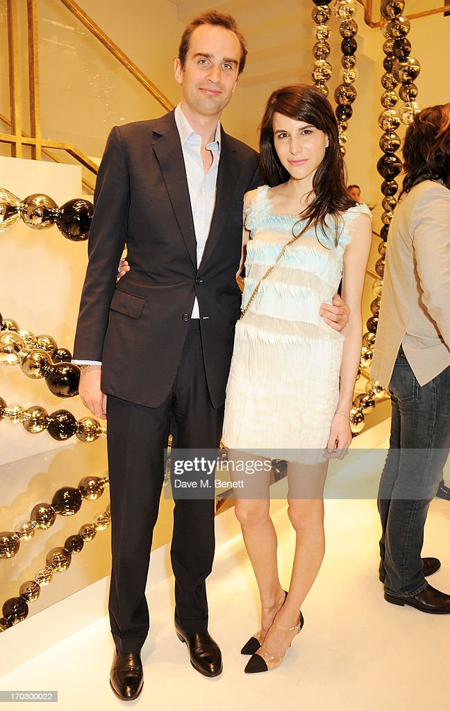 Fritz Von Westenholz (L) and Caroline Sieber attends a private view of the new CHANEL flagship boutique on New Bond Street on June 10, 2013 in London, England.