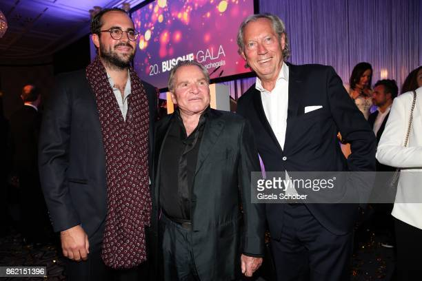 Fritz Wepper and Prof Dr Werner Mang plastic surgeon and his son Thomas Mang during the 2oth 'Busche Gala' at The Charles Hotel on October 16 2017 in...