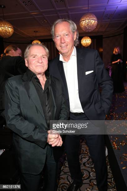 Fritz Wepper and Prof Dr Werner Mang plastic surgeon during the 2oth 'Busche Gala' at The Charles Hotel on October 16 2017 in Munich Germany
