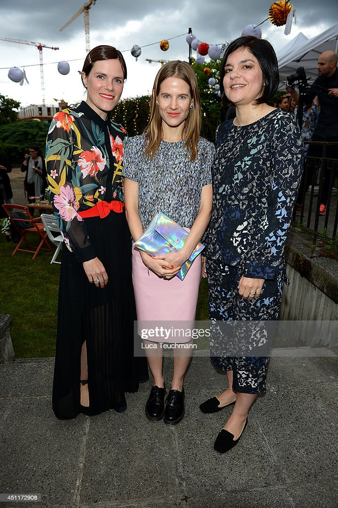 Fritzi Haberlandt, Aino Laberenz and Jasmin Tabatabai attend the Secret Garden Party hosted by Edited at Schinkel Pavillon on June 24, 2014 in Berlin, Germany.