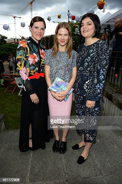Fritzi Haberlandt Aino Laberenz and Jasmin Tabatabai attend the Secret Garden Party hosted by Edited at Schinkel Pavillon on June 24 2014 in Berlin...