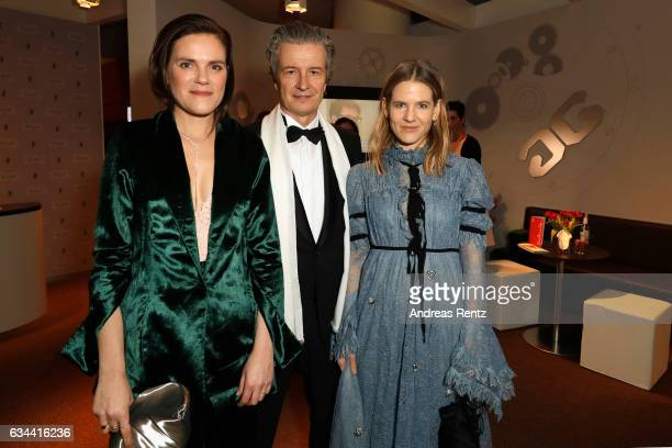Fritzi Haberlandt CEO of Glashuette Original Thomas Meier and Aino Laberenz attend the Golden Bear Lounge by Glashuette Original on February 9 2017...