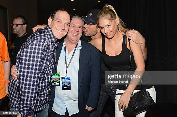 Froggy Elvis Duran Enrique Iglesias and Anna Kournikova attend the Y100's Jingle Ball 2012 at the BBT Center on December 8 2012 in Miami