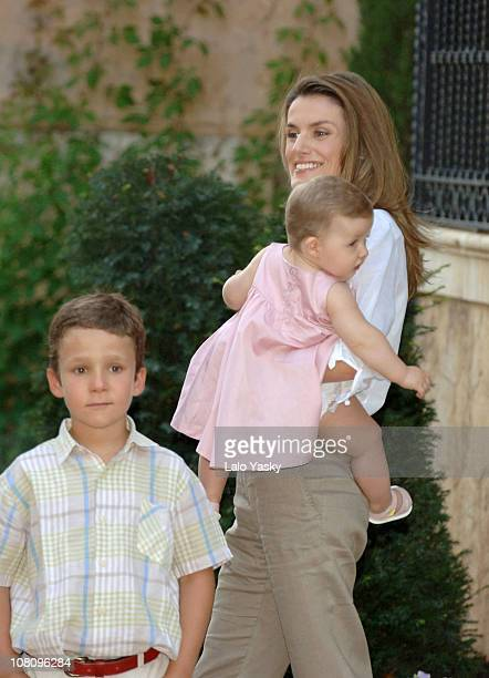 Froilan Princess Letizia and Daughter Leonor