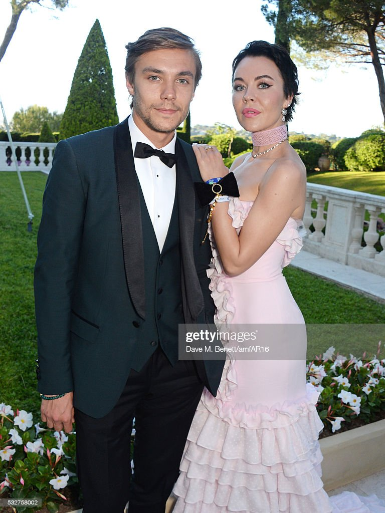 Frol Burimskiy and Ulyana Sergeenko attend amfAR's 23rd Cinema Against AIDS Gala at Hotel du CapEdenRoc on May 19 2016 in Cap d'Antibes France