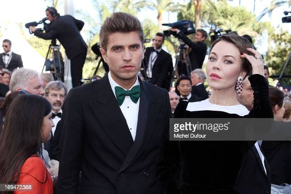 Frol Burimsky and Ulyana Sergeenko attend the 'La Venus A La Fourrure' premiere during The 66th Annual Cannes Film Festival at Theatre Lumiere on May...