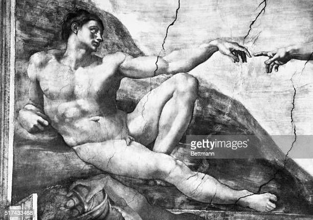 From 150812 Michelangelo painted this fresco on the ceiling of the Sistine Chapel | Detail of 'The Creation of Adam' by Michelangelo