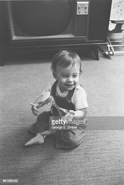 From a series entitled 'The Permanence of Objects' a child plays with a toy 1960s