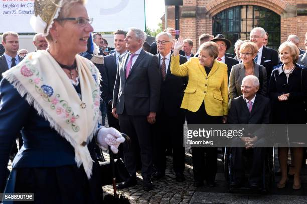 From back left to right Thomas Strobl BadenWürttemberg state Christian Democratic Union party chairman JeanClaude Juncker president of the European...