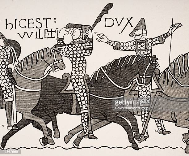 From Bayeux Tapestry William Duke of Normandy with Eustatius Count of Boulogne